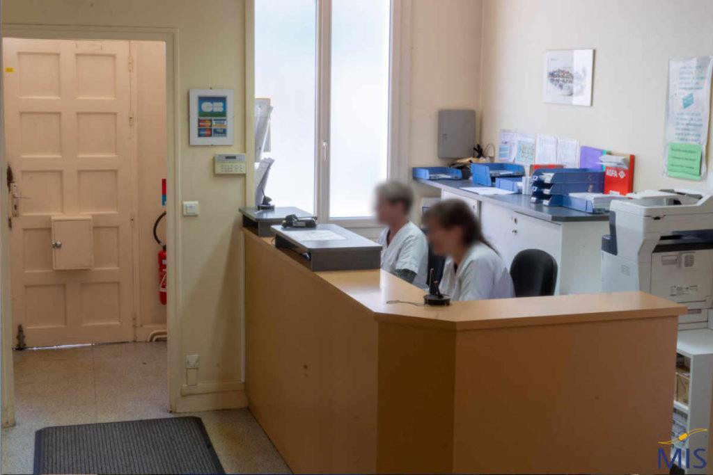 Accueil du centre d'imagerie médicale de Sablé-sur-Sarthe